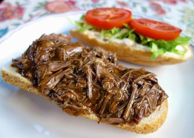 New Orleans Roast Beef Po-Boy   Plain Chicken ~~~ Drool!!!!