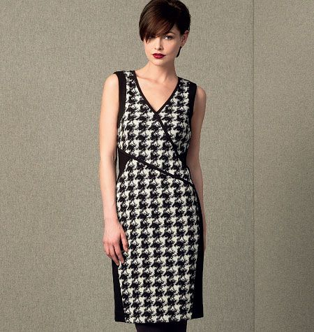 DKNY, Misses' Front-Seamed Dress, V1407 http://voguepatterns.mccall.com/v1407-products-48728.php?page_id=174