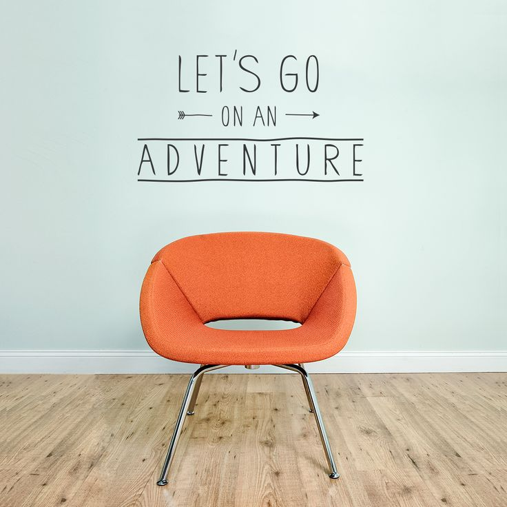 Let's Go On An Adventure Wall Decal Quote