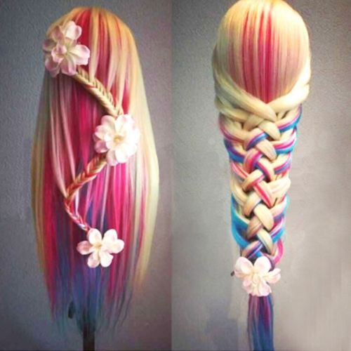 Hairdressing-Salon-Cosmetology-Long-Corn-Wavy-Curly-Hair-Colorful-Hair-Mannequin