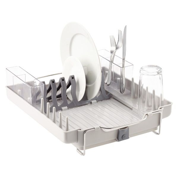Oxo Fold Away Dish Rack With Images Dish Racks Stainless