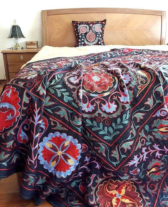 Suzani handmade from Bukhara Uzbekistan.Tablecloth Wall