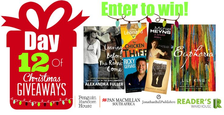 Day 12 Hamper sponsored by @JonathanBallPub, @PenguinBooksSA & Pan Macmillan is the perfect hamper for any book lover. Packed full of charming fiction and nonfiction this Hamper will definitely keep any reader busy! Enter here: https://gleam.io/SBjZ9/day-12-of-christmas-giveaways