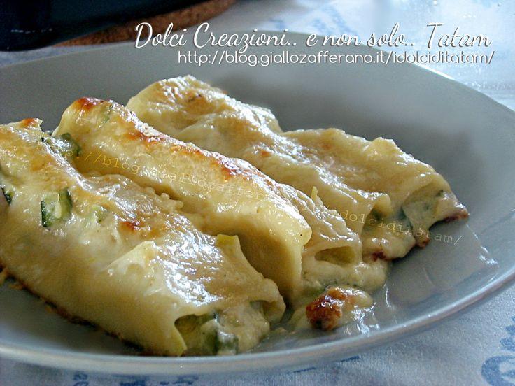 Cannelloni con verdure e gorgonzola