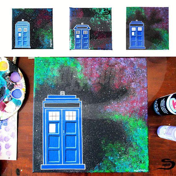 TARDIS Free Shipping  Doctor who Tardis in space galaxy stars