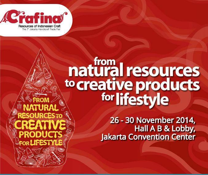 Buat AgendaLovers yang ada di Jakarta dan juga sekitarnya kali ini Mediatama Binakreasi akan menyelanggarakan acara 'Crafina 2014' Sebuah pameran kerajinan terbesar Indonesia. Buat yang ingin Datang ke acara ini, Selengkapnya:  - Crafina 2014 - Hari Rabu-Minggu, 26-30 November 2014 - At Hal A,B & Lobby Jakarta Convention Center, Jl.Gatot Subroto, Jakarta.  Informasi Selengkapnya, klik http://agendakota.co.id/read/4522//crafina-2014.html