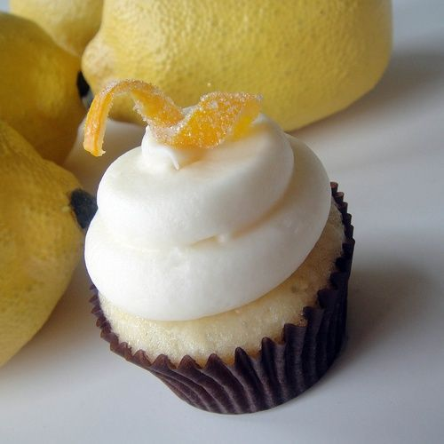lemon cupcake recipe - I made these yesterday, and my husband says they are the best he's ever had. Intense lemon flavor, not too sweet. --slh
