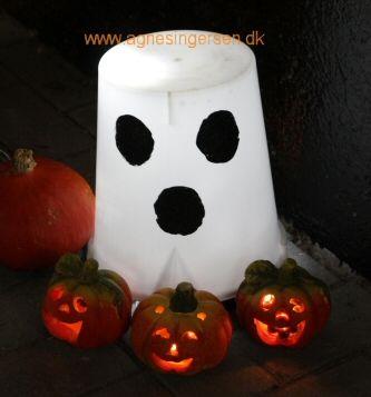 http://agnesingersen.dk/blog/spoegelse14 - Easy kids crafts ghost - Kinderbastelideen Geist - halloween