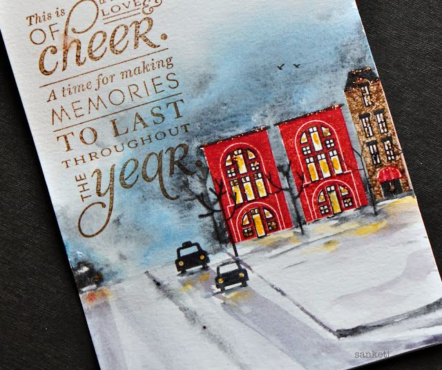 The Storyteller: City Scene- Papertrey Ink Nov blog Hop