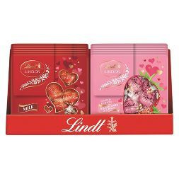 Lindt Lindor Valentine's Milk Chocolate and Strawberry & Cream Truffles - 3.8oz