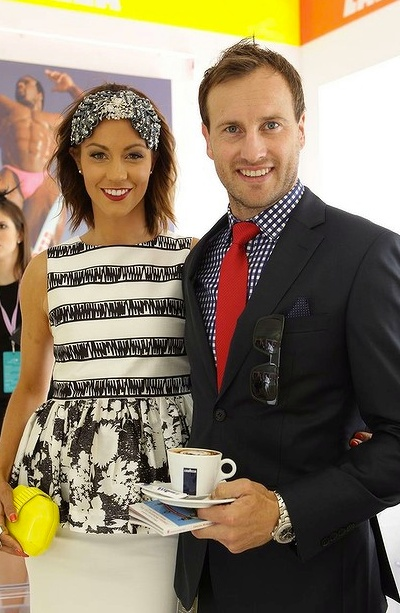 Jude Bolton at the 2012 Spring Racing Carnival suit by Briggins.
