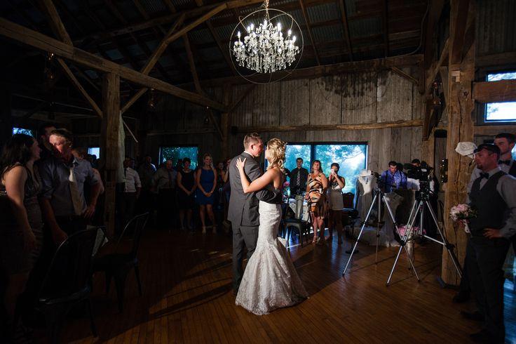 First Dance Cute Couple Barn Wedding