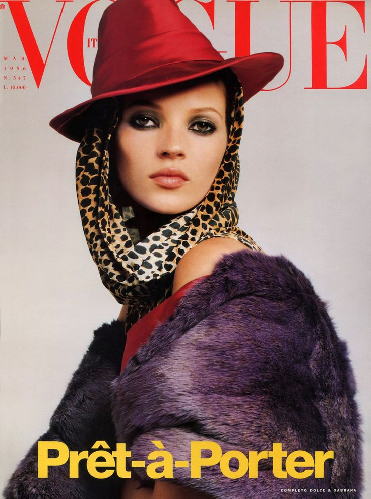 Kate Moss by Steven Meisel Vogue Italia March 1996