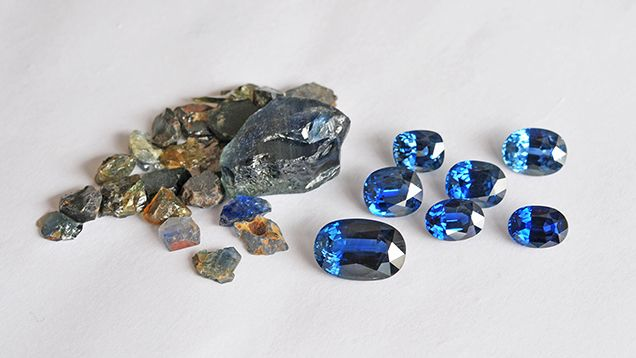 A report from the GIA Laboratory in Bangkok presents their findings on 59 blue sapphire samples obtained from a miner in the Khao Ploy Waen area, Chanthaburi.