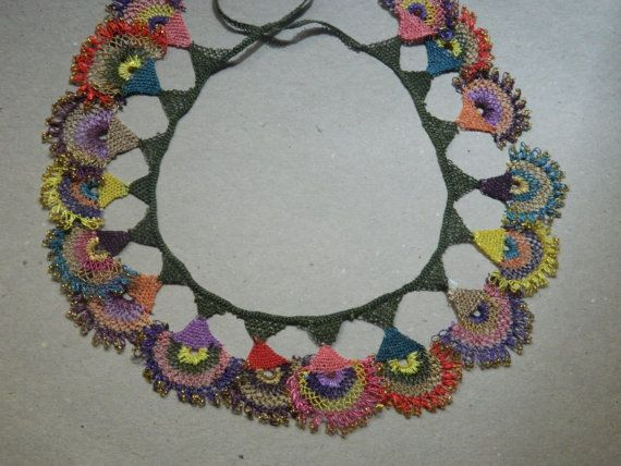 Needle laceSpecially designedSand beads by KEMENTJEWELRY on Etsy, $85.00