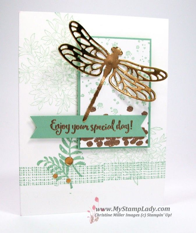 Copper Dragonfly Dreams by cmstamps - Cards and Paper Crafts at Splitcoaststampers