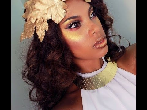 ▶ Greek Golden Goddess Makeup & Hair Tutorial - YouTube