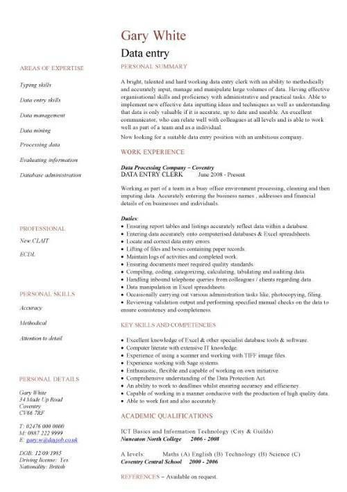 resume quotes office clerk samples administrative sample objectives for assistant