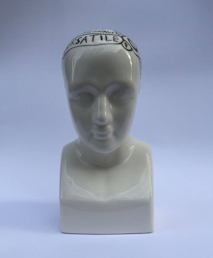Michael Chandler  Zodiac Phrenologies Gemini Hand Painted Glazed Ceramic  R 1 800