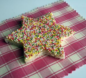 """an old Aussie favorite for kids:  """"Fairy Bread""""  white bread, butter, and sprinkles. Sooo bad but soooo good"""