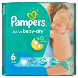 Pack 36 Couches Pampers Baby Dry taille 6 sur Couches Zone