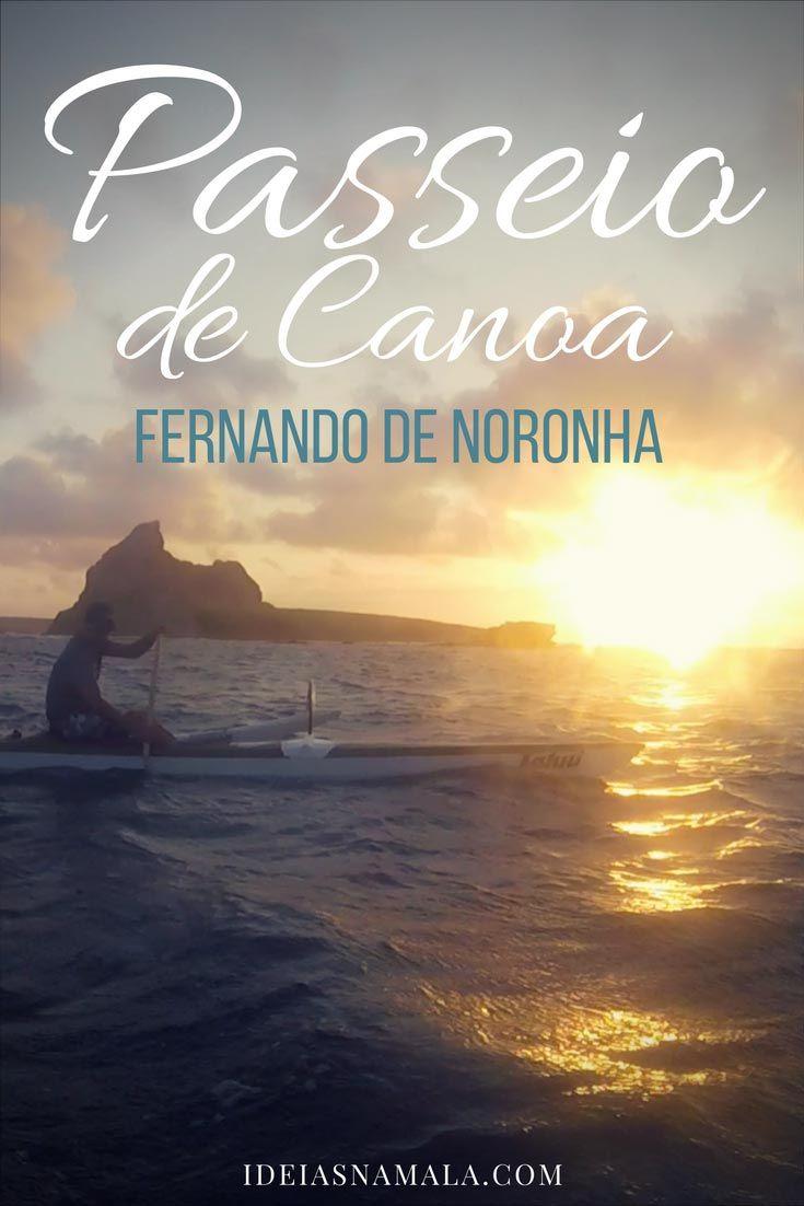 Passeio de Canoa em Fernando de Noronha. Um passeio maravilhoso e uma chance incrível de ver golfinhos. Nós fizemos o passeio durante o nascer do sol.