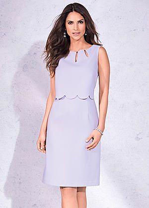 Scallop Floating Bodice Dress #kaleidoscope #summer #fashion