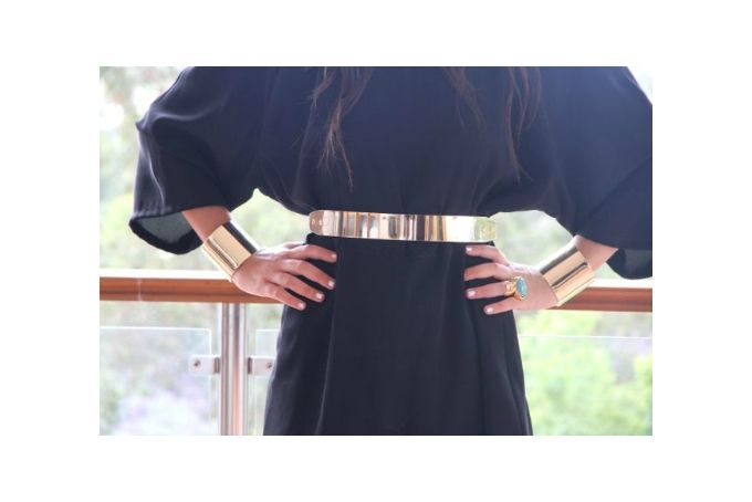♥GOLD METALIC BELTS by T-Rex Couture