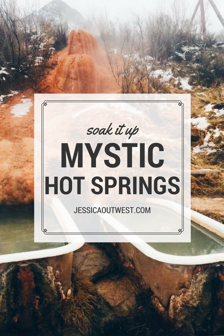 Mystic Hot Springs - Jessica Out West  Soak in bathtubs filled with natural hot mineral water while you relax in the Utah Desert