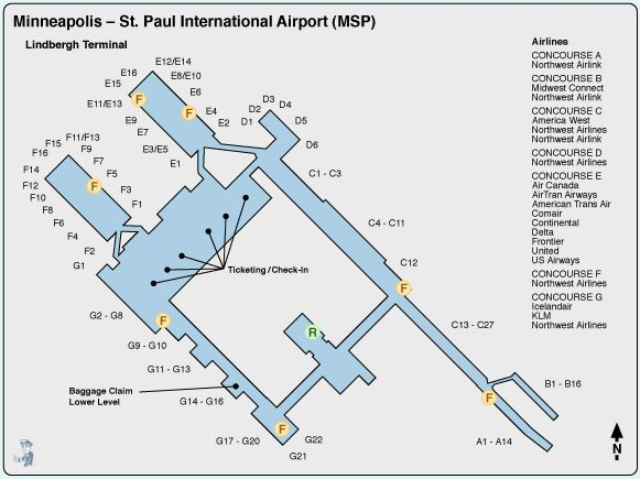 map of msp airport minneapolis airport terminal click on the diagram for a better