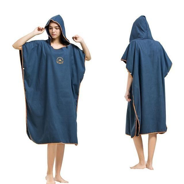 Damen Herren Surf Poncho Bademantel Umkleide Badetuch Umkleidehilfe Handtuch