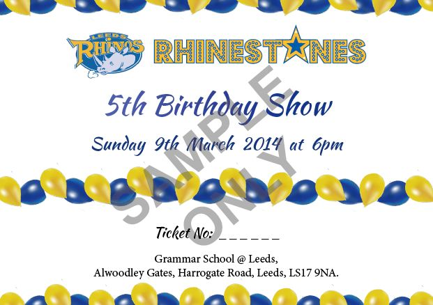Colour Tickets | Leeds | Leeds Rhinestones