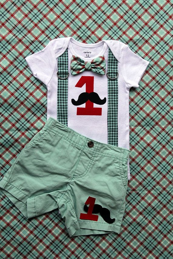 Baby Boy First Birthday Outfit Little Man by shopantsypants