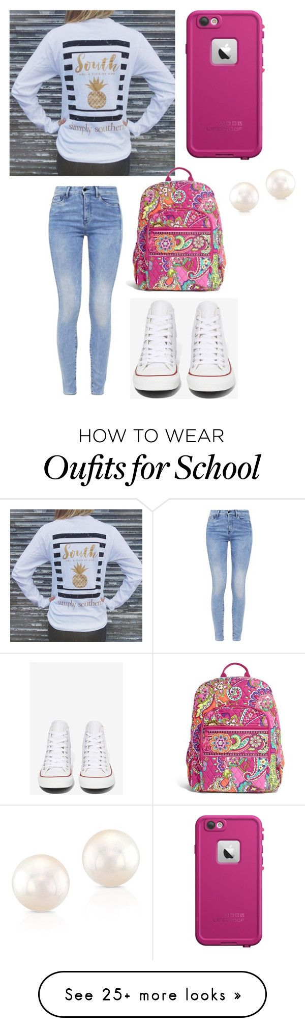 """School"" by mckinley2004 on Polyvore featuring G-Star, Converse, LifeProof and Vera Bradley"