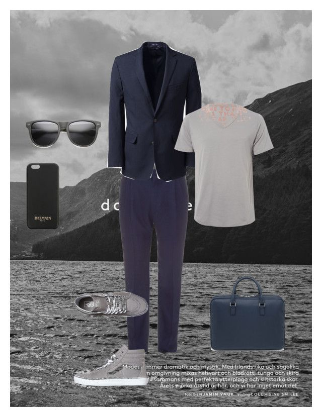 """Sophisticated"" by lipe-1 on Polyvore featuring Lanvin, Lands' End, Vans, Maison Margiela, Balmain, Mulberry, men's fashion and menswear"