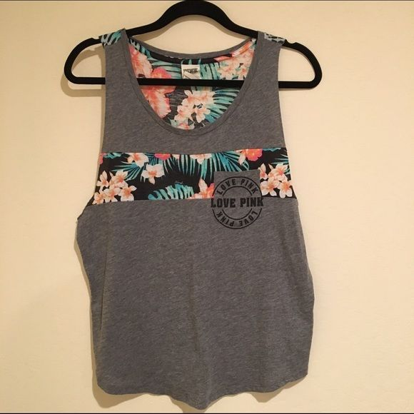 VS Pink Floral Tank Size M. Worn 3x. Good condition. PINK Victoria's Secret Tops Tank Tops