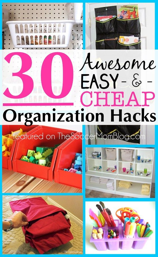 Some of the most talented and creative family bloggers share their top organization hacks for all parts of your life and home! Easy, frugal, & do-able ideas from kitchen, to bathroom, to kids rooms and more!