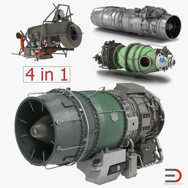 Turbofan Engines Collection 3D model