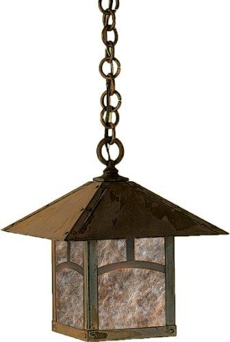 Arroyo Craftsman EH-12AAM-BZ Evergreen Collection 1-Light Exterior Hanging Lantern, Bronze Finish with Almond Mica Panels by Arroyo Craftsman. $368.00. From the Manufacturer                Arroyo Craftsman EH-12AAM-BZ Evergreen Collection 1LT Hanging Lantern features a Bronze finish and Classic Arch overlay with Almond Mica panels in a classic Craftsman design that will sure to enhance any decor for many years to come with the superior craftsmanship. Hang over a kitchen ...