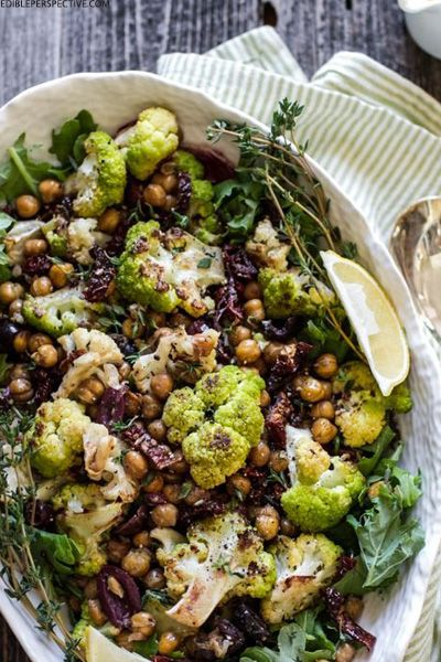 Whilst the cold weather tends to conjure up the desire for carbs and slow-cooked stews, such a change in diet isn't great news for our waistlines. If you're keen to keep it healthy, opt for a warm salad instead; these satisfying recipes are substantial enough to curb winter cravings, simply switch raw ingredients for cooked quinoa or roasted veg and enjoy the nutritional benefits of fresh food with a heartier feel.