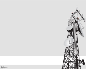 Free antenna PowerPoint template with gray background