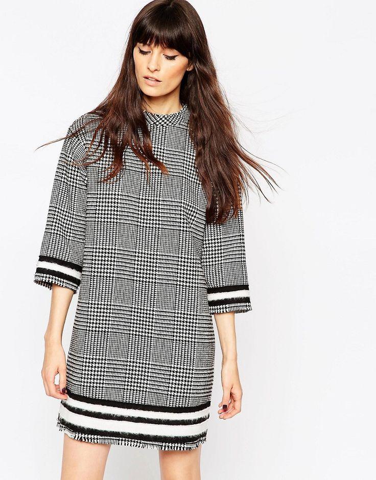 ASOS+Tweed+Check+Tunic+Dress