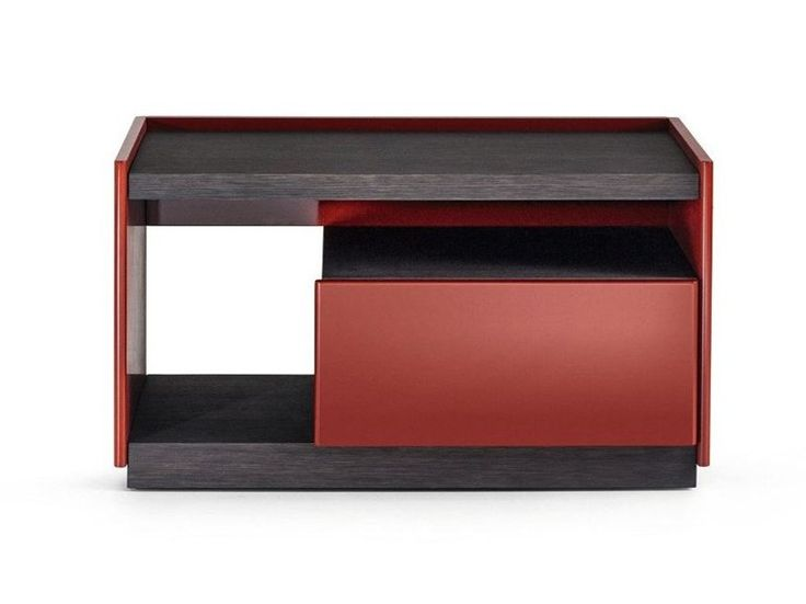 Wooden bedside table with drawers 5050 Collection by MOLTENI