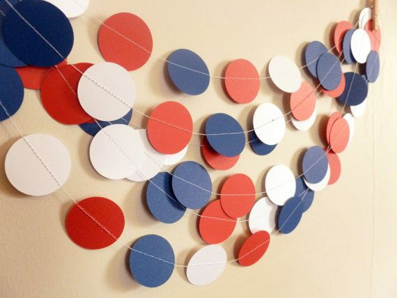 Chicago Cubs Party Decor Paper Garland  by SassyPantsNebraska
