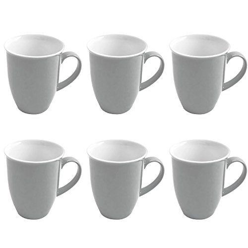 Flirt By Ru0026B Geschirr Serie Doppio Grau Material 6er Set Kaffeebecher 320  Ml Doppio Grau