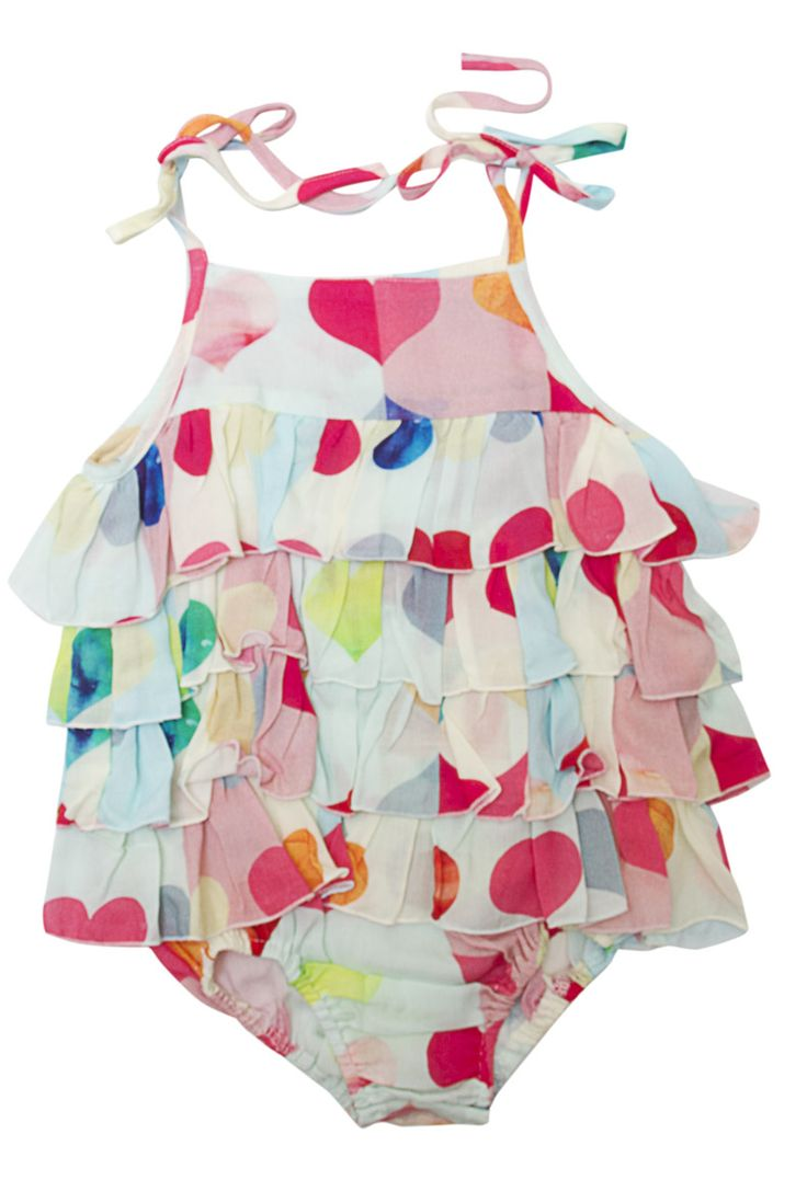 Alex and Ant Summer Love Frill Romper Size 0 - 3mth  3 - 6mth  6 - 12mth