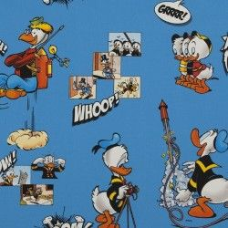 Disney Donald Duck fabric number 2 - Sketch Huey Dewey and Louie 100% Cotton Curtain Lining Fabric ohsewcrafty