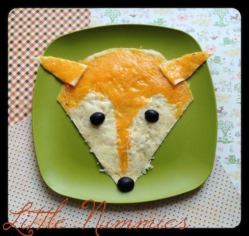 woodland animal fox quesadilla fun food and edible craft ideas
