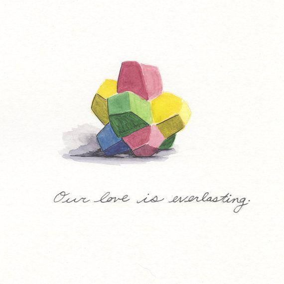 Everlasting Gobstopper Love, greeting card 5x7