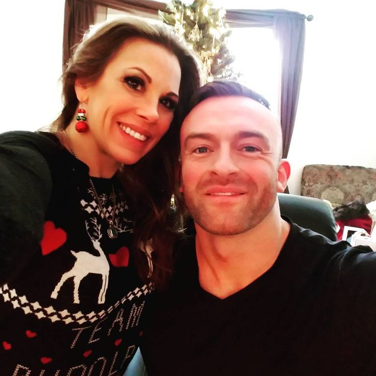 WWE Superstar Mickie James and her husband Nick Aldis (NWA's Magnus) on Christmas morning #WWE #TNA #NWA #wwecouples #wwewives #wwewags
